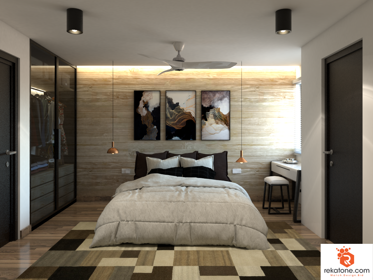 Guest Bedroom by https://www.rekatone.com/index