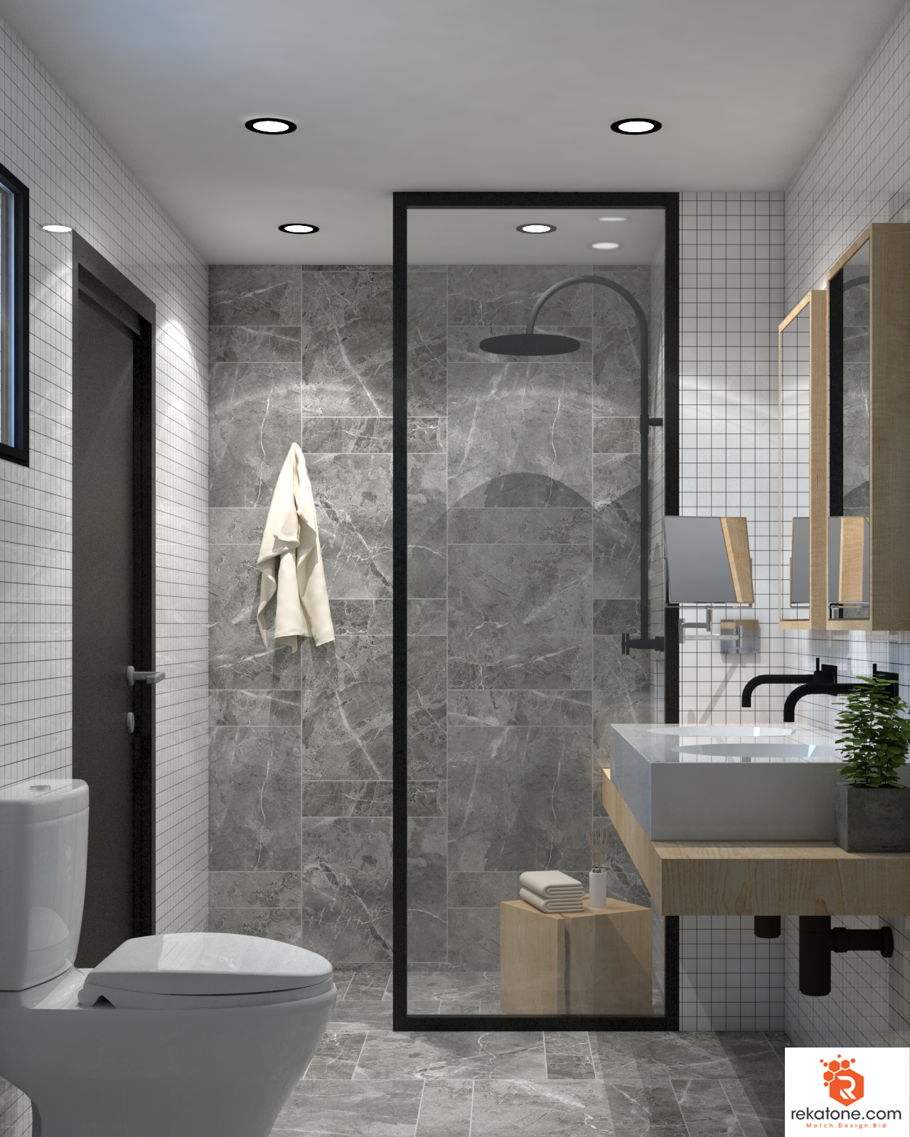 Master Bathroom by https://www.rekatone.com/index