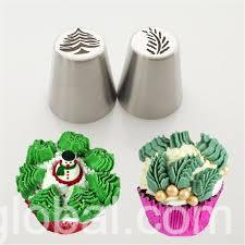 www.rentingglobal.com, renting, global, Ontario, CA, USA, Russian piping nozzle christmas tree & leaf 2pcs