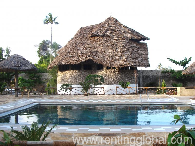 www.rentingglobal.com, renting, global, Zanzibar City, Tanzania, bungalow hotel swimming pool beach resort, Renovated beach resort in Southeast Zanzibar for sale