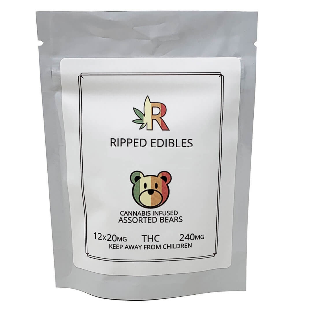 www.rentingglobal.com, renting, global, Vancouver, BC, Canada, edibles, ASSORTED GUMMY BEARS BY RIPPED EDIBLES