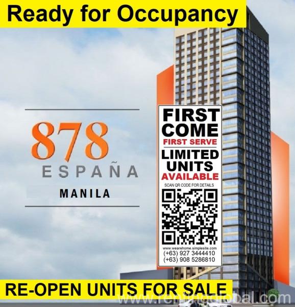 www.rentingglobal.com, renting, global, España Blvd, Sampaloc, Manila, 1008 Metro Manila, Philippines, manila condominium, Manila's finest location - Ready to Occupy immediately infront of UST