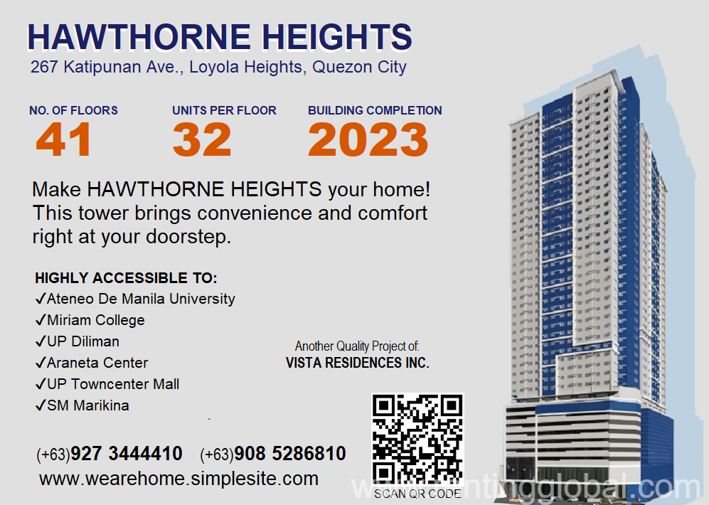 www.rentingglobal.com, renting, global, Loyola Heights, Quezon City, Metro Manila, Philippines, quezon city condo, Vista Pointe Katipunan