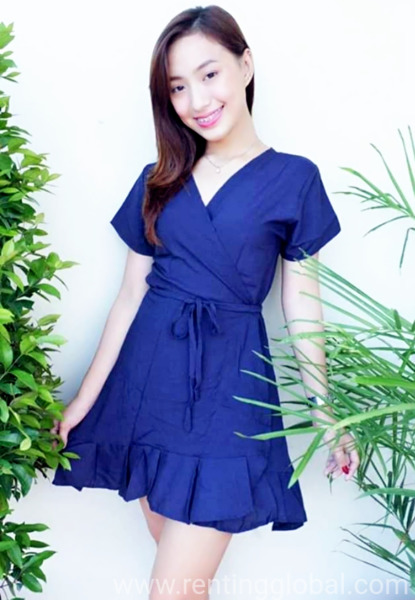 www.rentingglobal.com, renting, global, Philippines, affordable dress,blouse,rompers,crop tops,v neck shirt,jumpsuit,sando,terno,swimwear, Wrap Around Dress