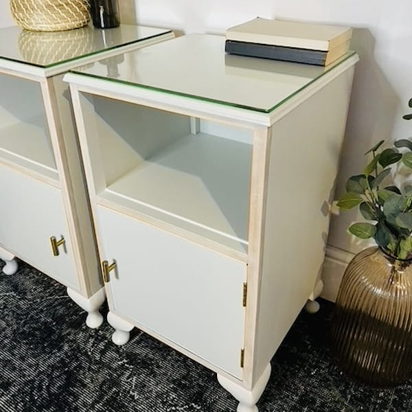 Upcycled Bedside Tables Grey