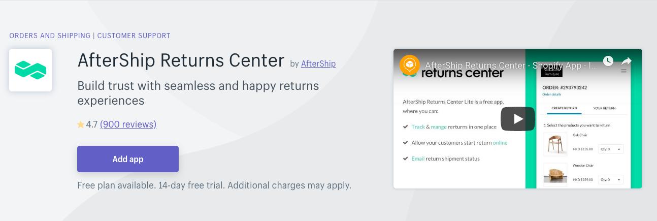 AfterShip Returns Center