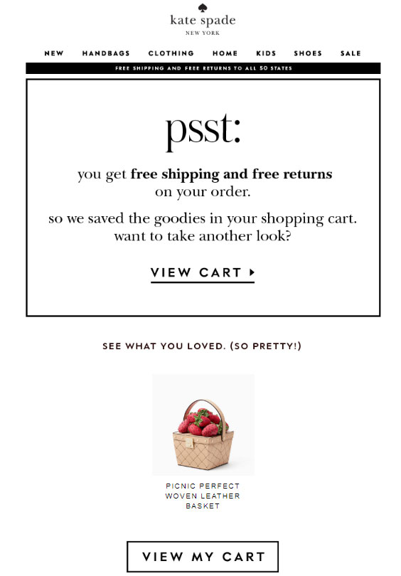 Email from Kate Spade