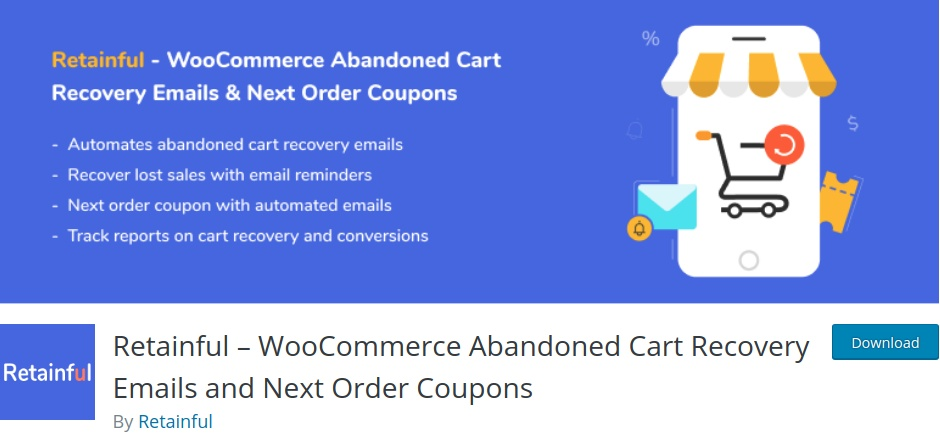 Retainful - The FREE Cart recovery email plugin for WooCommerce