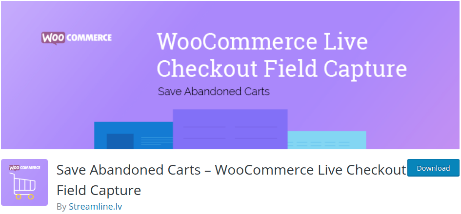 Save abandoned carts - WooCommerce live to check out field capture