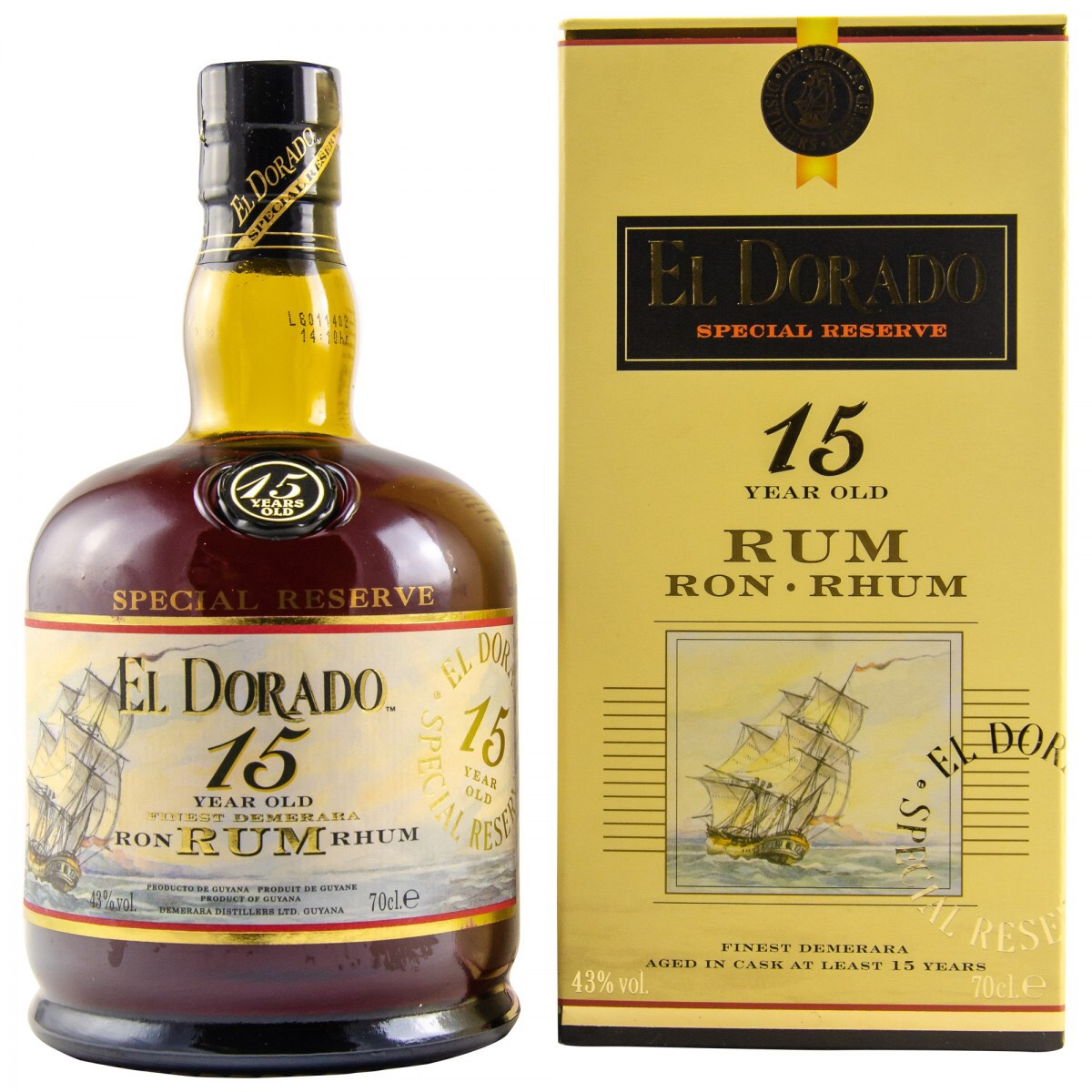 Bottle image of El Dorado 15