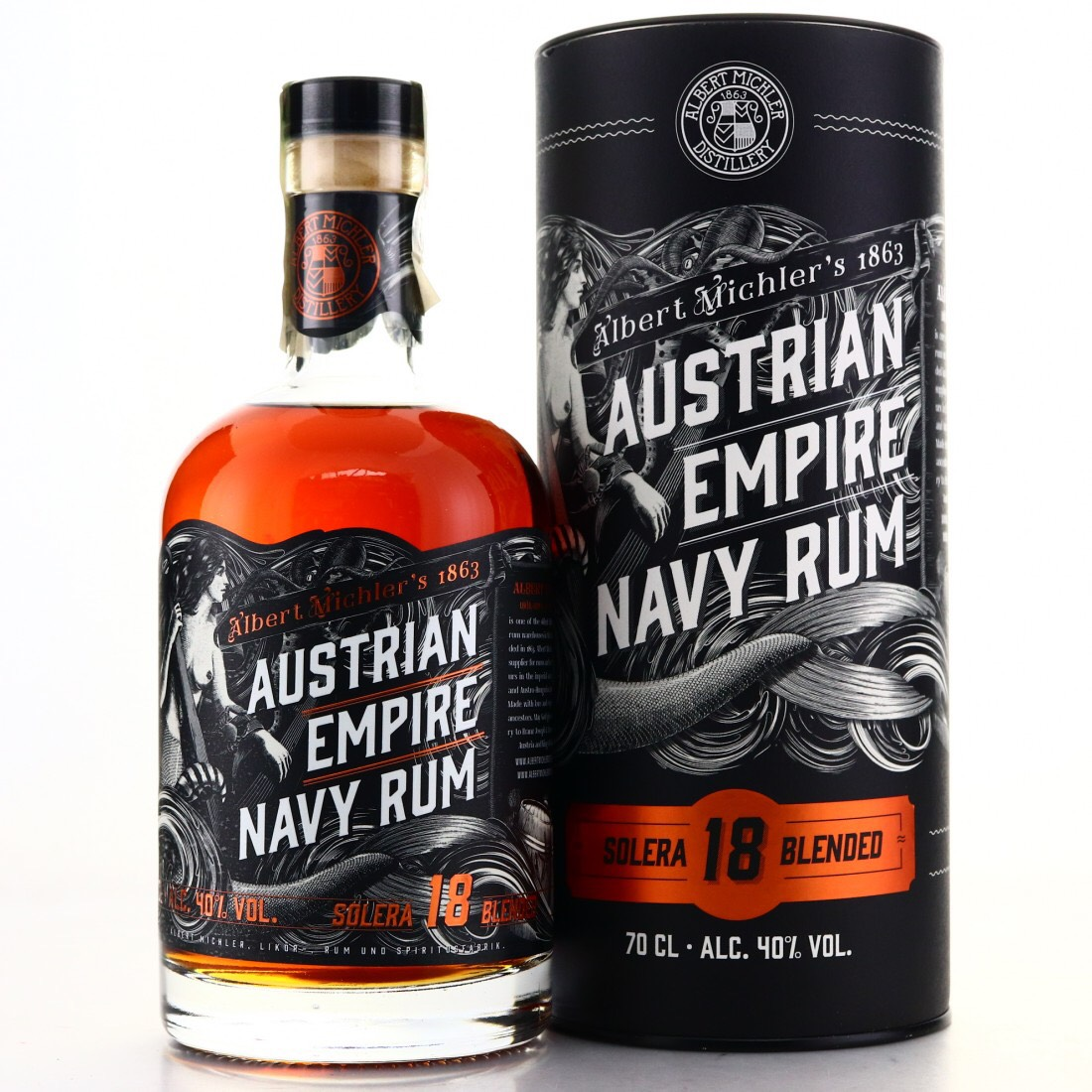 Bottle image of Austrian Empire Navy Rum Solera 18