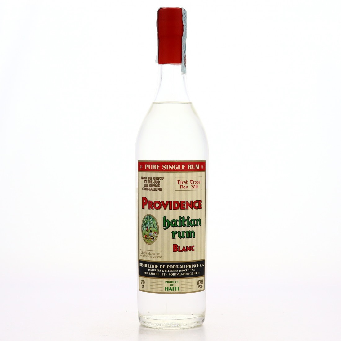 """Bottle image of Providence Haitian Rum Blanc """"First drops"""""""