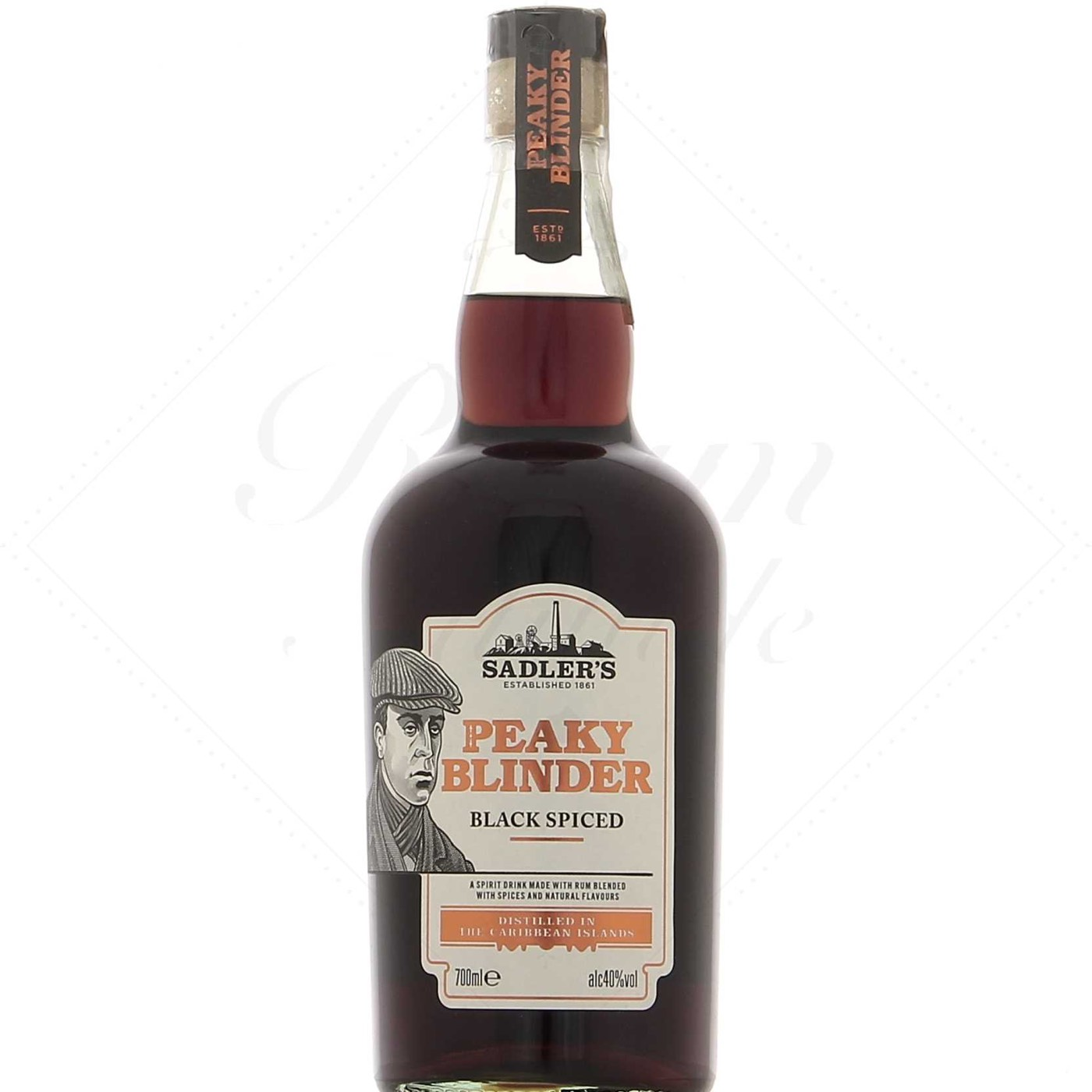 Bottle image of Saddlers Peaky Blinder Black Spiced Rum