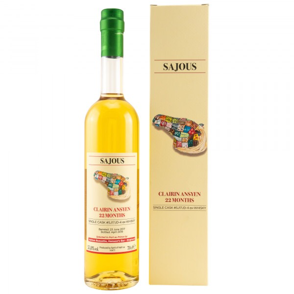 Bottle image of Clairin Ansyen Sajous (Jack Daniels Cask)