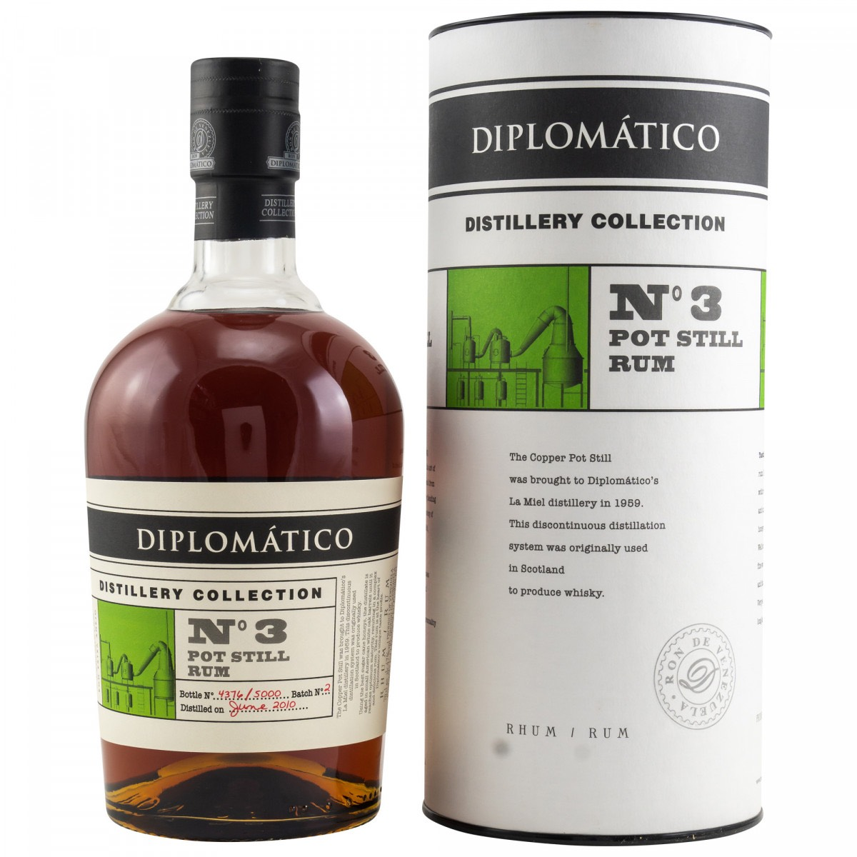 Bottle image of Diplomático / Botucal No. 3 Pot Still Rum