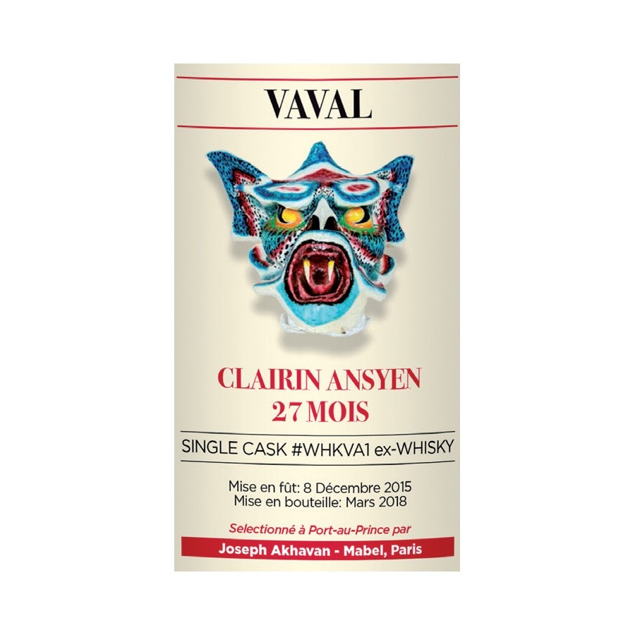 Bottle image of Clairin Amsyen Vaval