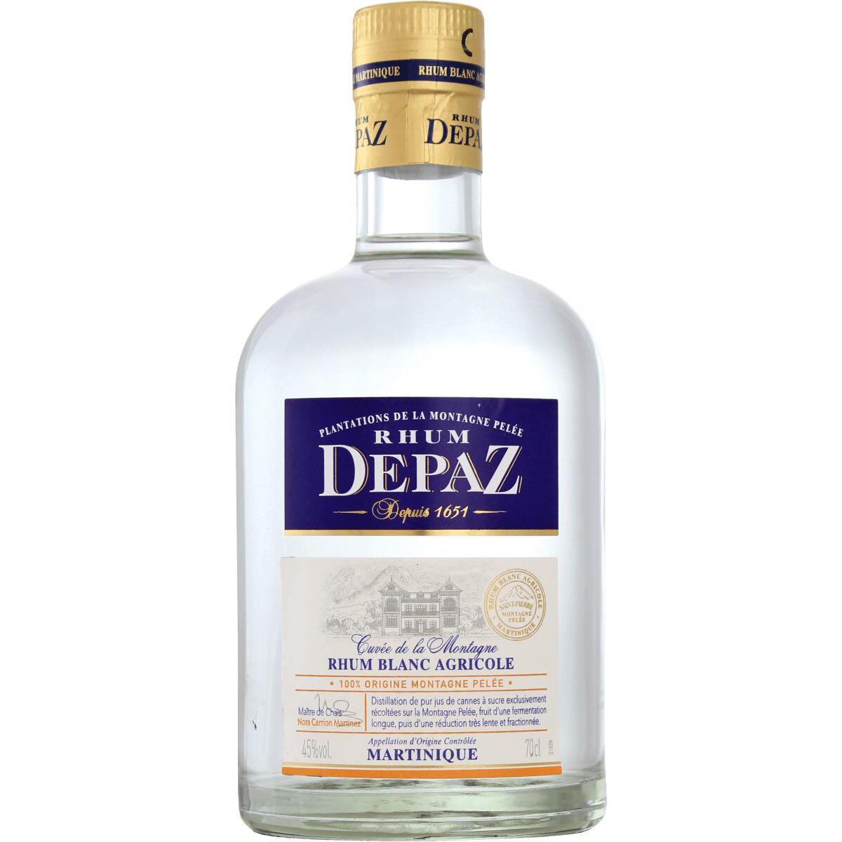Bottle image of Cuvée de la Montagne - Rhum Blanc Agricole