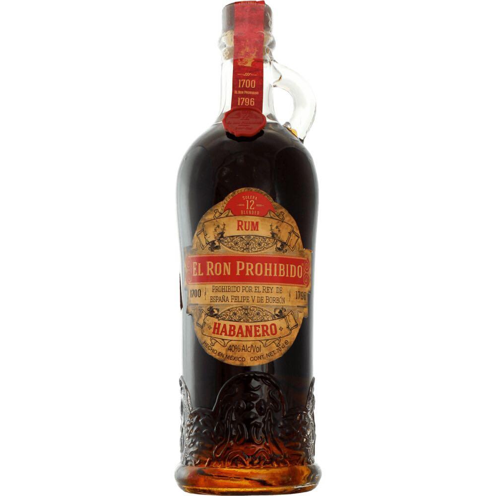 Bottle image of El Ron Prohibido Habanero Solera 12