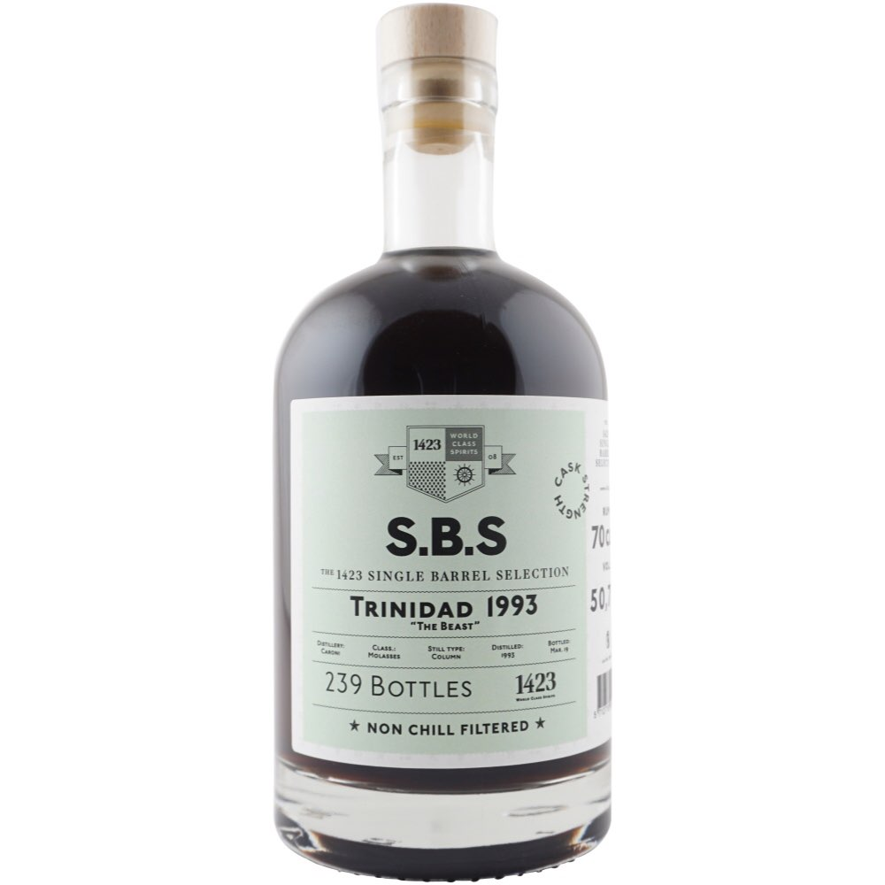 """Bottle image of S.B.S Trinidad """"The Beast"""""""