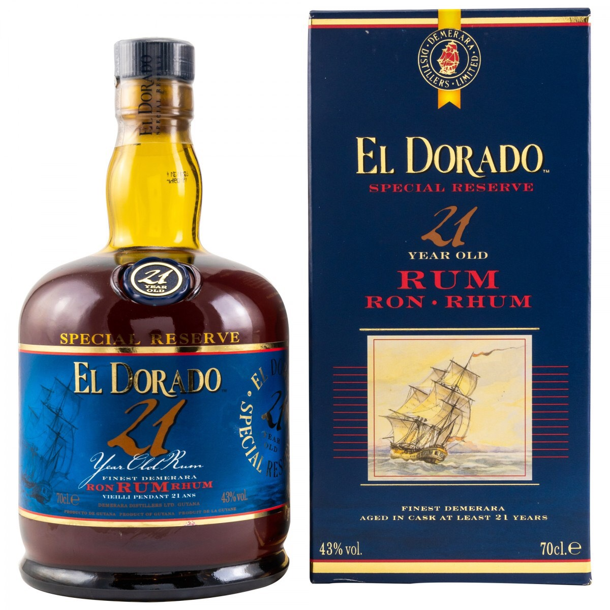 Bottle image of El Dorado 21