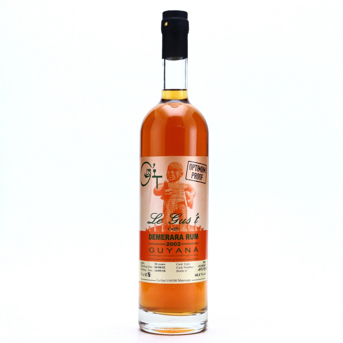 Bottle image of Demerara Rum Cuffy Optimum Proof