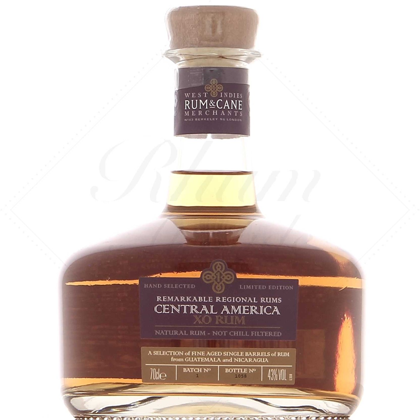 Bottle image of Rum & Cane Central America XO
