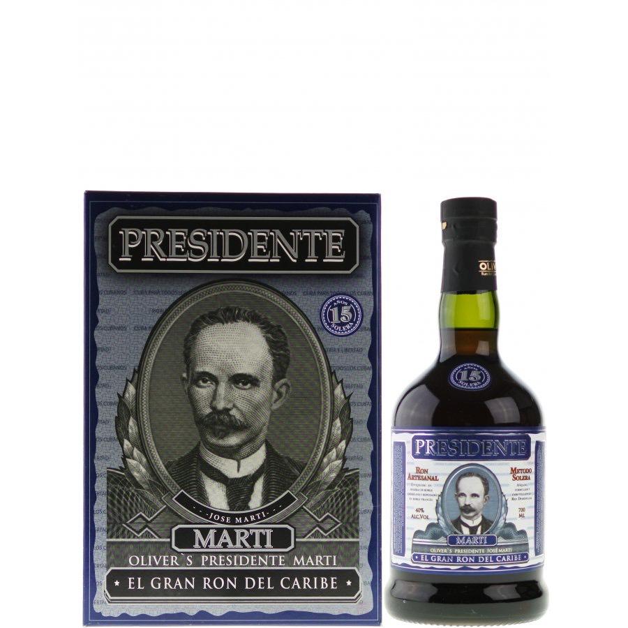 Bottle image of Presidente Marti 15 Años