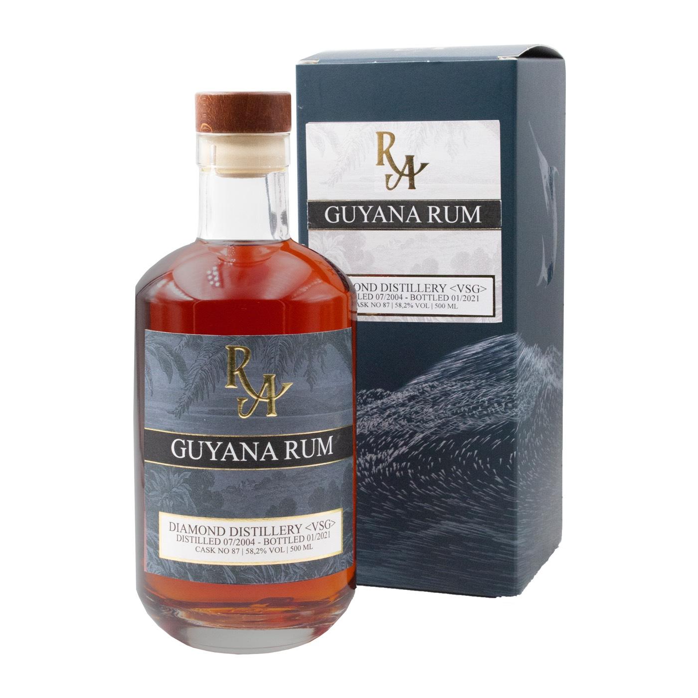Bottle image of Rum Artesanal Guyana Rum VSG