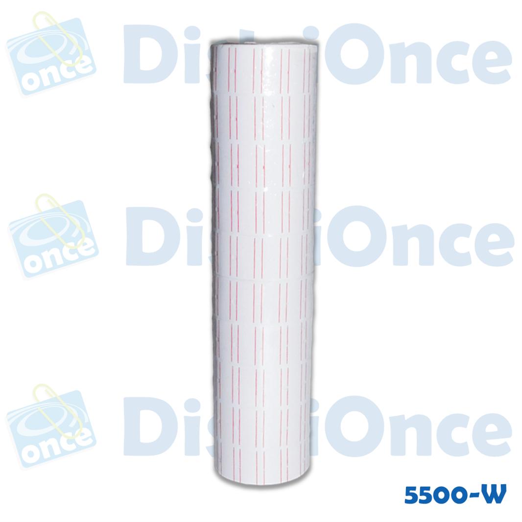 Rollo blanco para tiqueteadora MX5500 EOS Y MX-5500