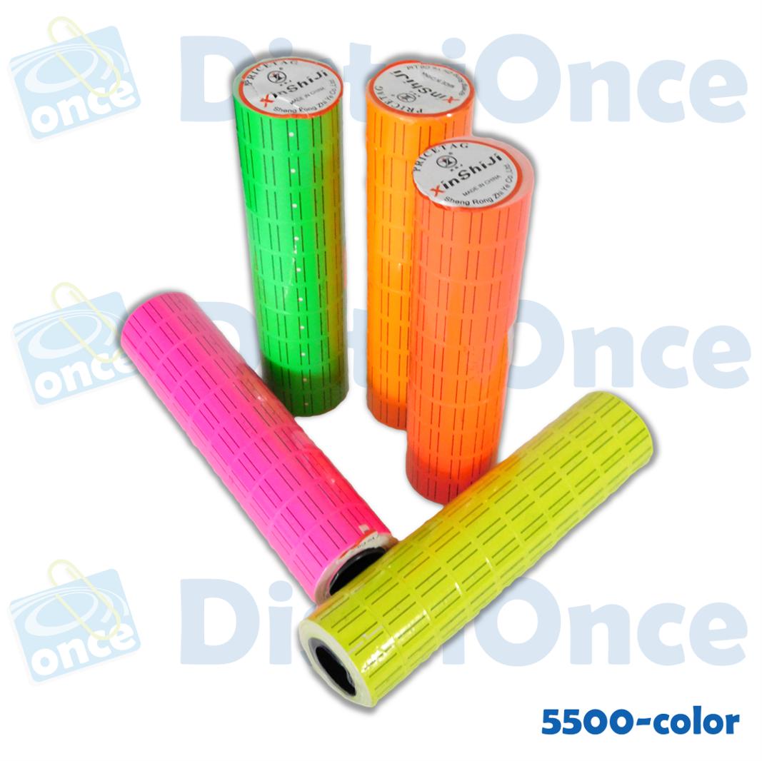 Rollo de colores  para tiketeadora MX5500 EOS Y MX-5500