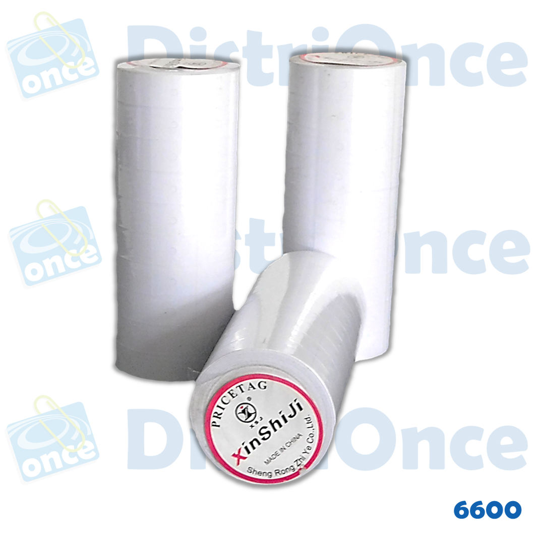 Rollo blanco para tiquetadora MX-6600 MOTEX