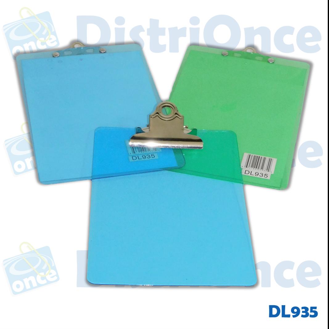 Tabla planillera acrílica traslucida tamaño A5 (148 x 210 mm)