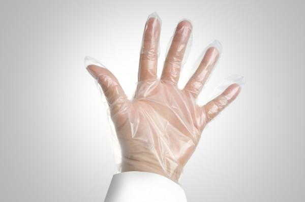 EPP guantes plasticos