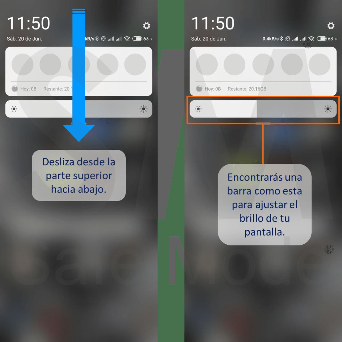 Ajustar el brillo en pantallas de Android