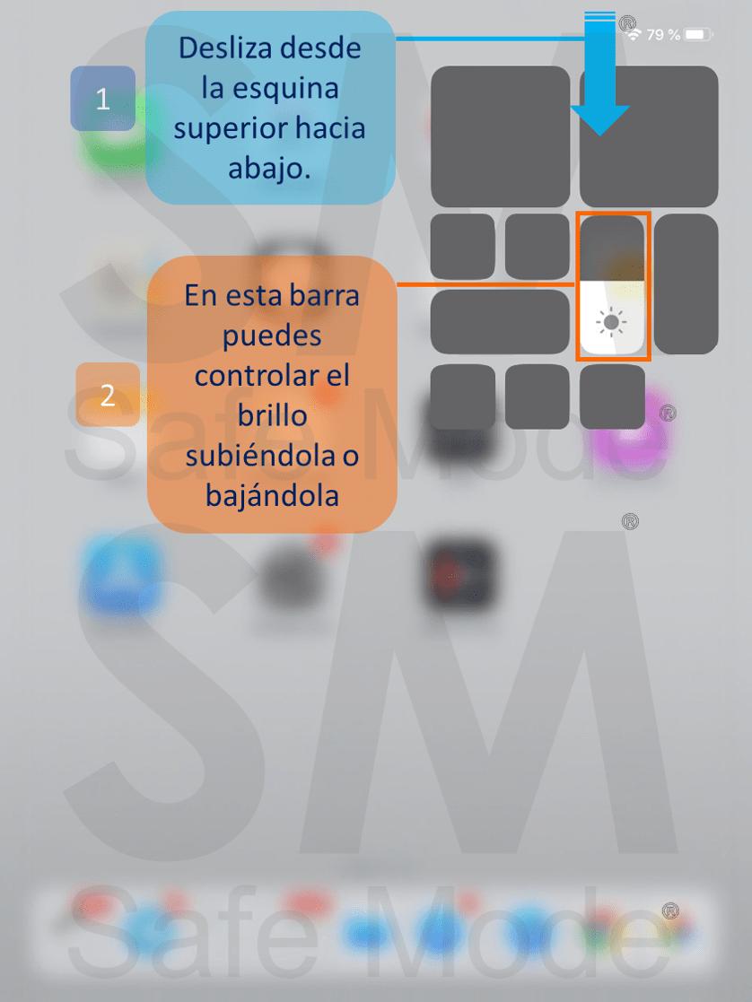 Ajustar el brillo en pantallas de iOS