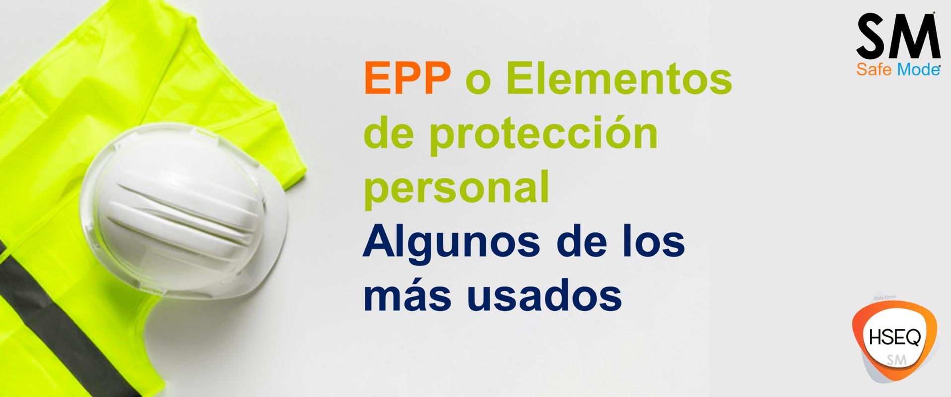 EPP elementos de protección personal
