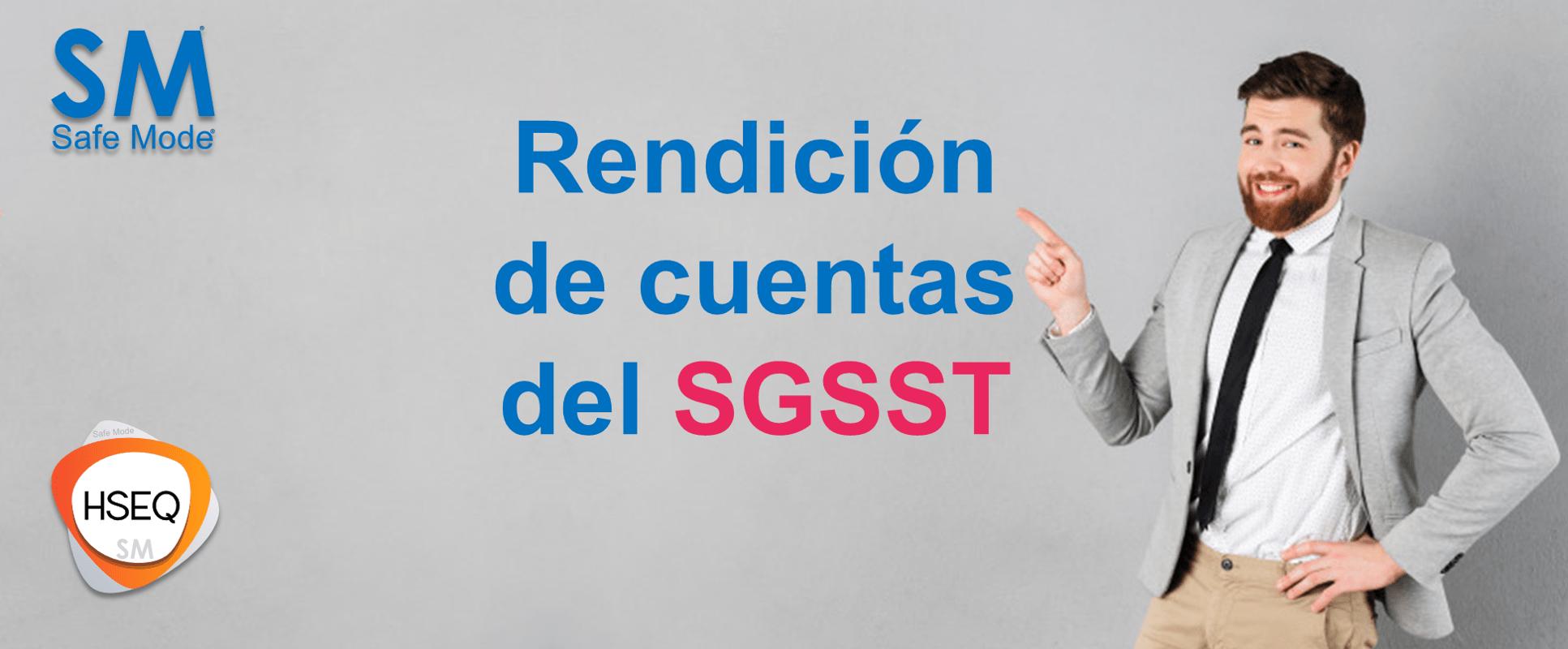 Rendicion de cuentas del SGSST - Lo que debes saber