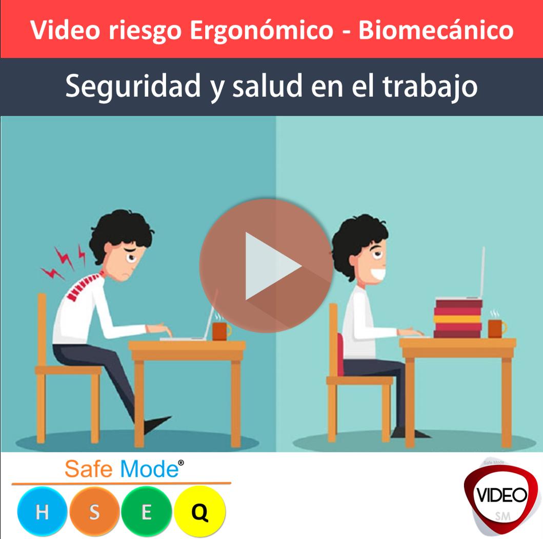 Video riesgo ergonómico o biomecánico