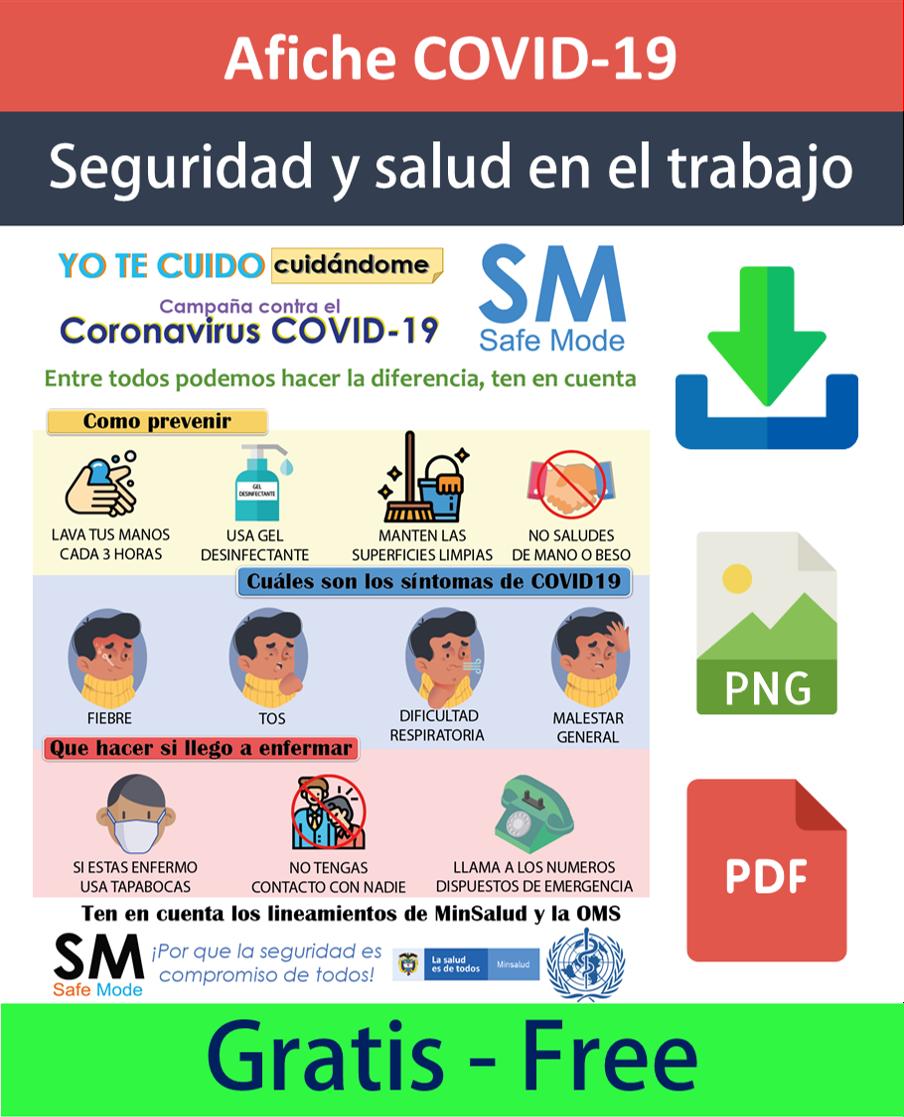 Afiche campaña de prevención COVID-19