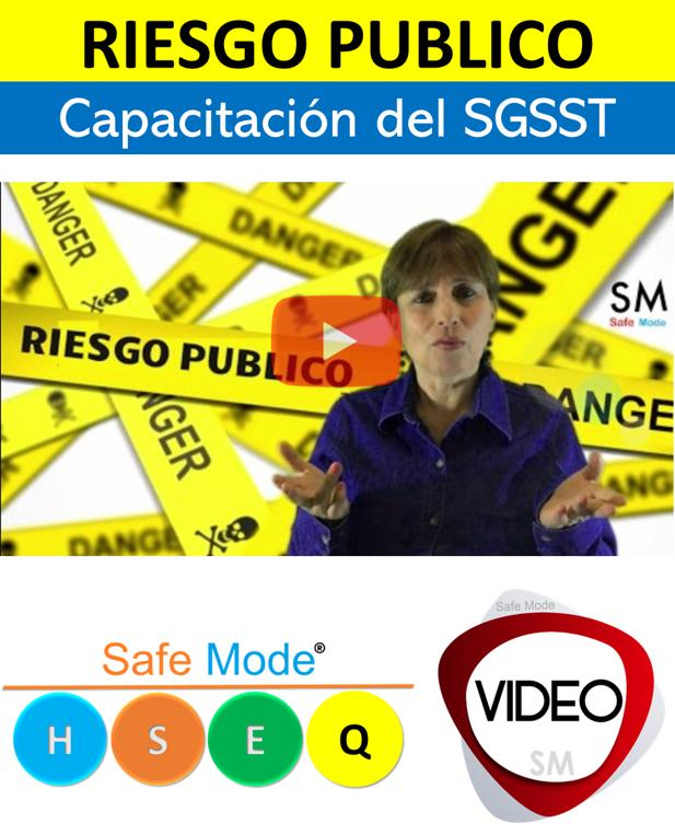 Vídeo Riesgo público (capacitación)