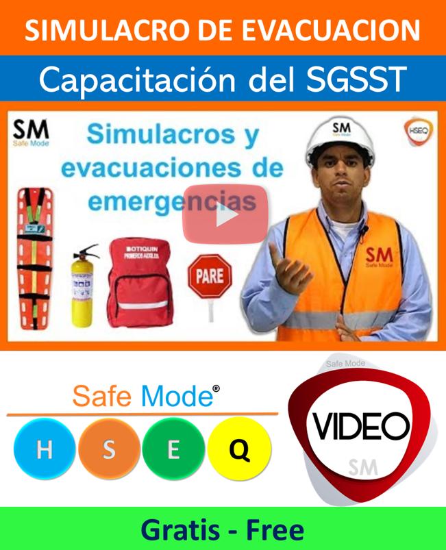 Video coo hacer simulacro de evacuación