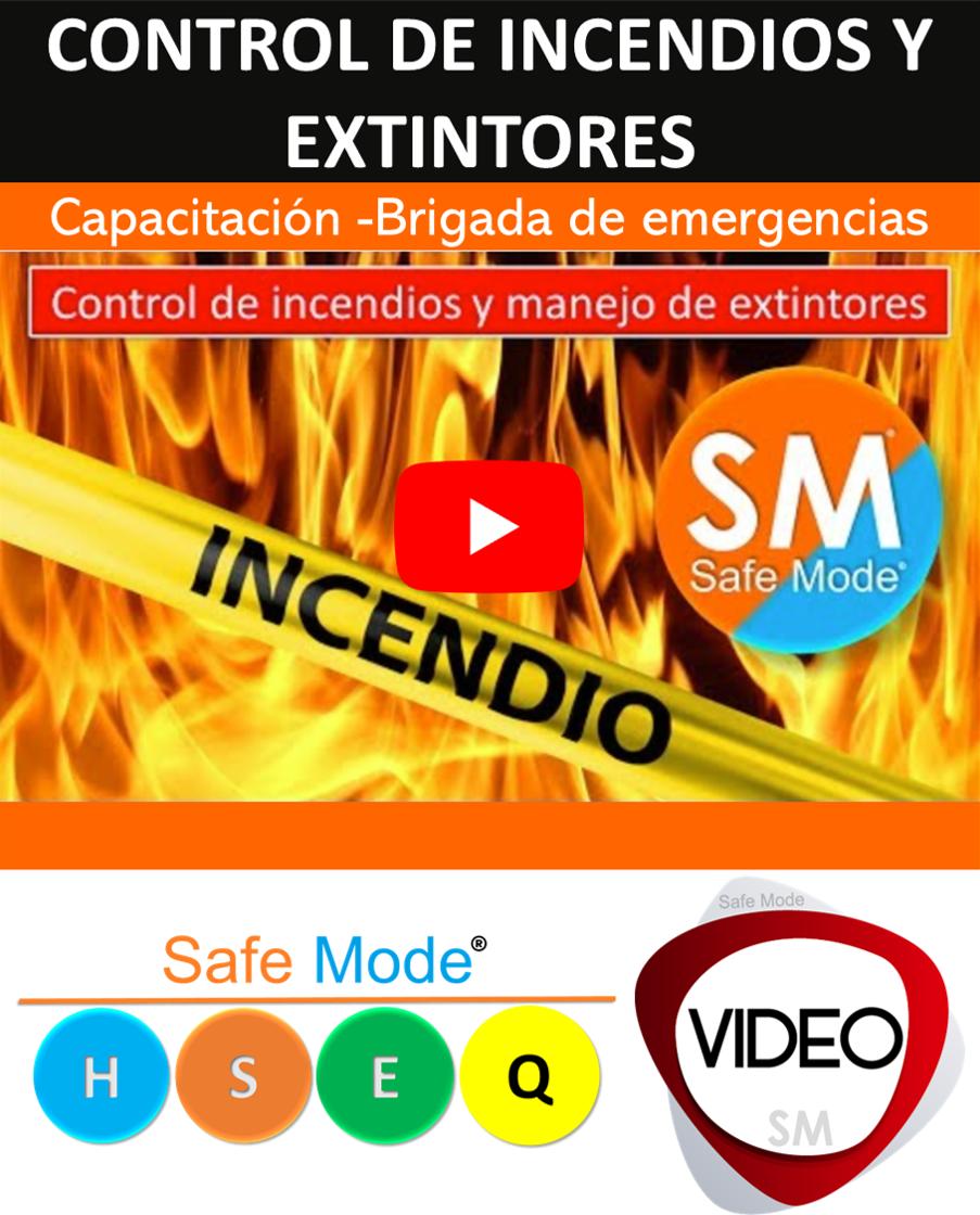 Capacitación Control de incendios y extintores - Brigada de emergencias
