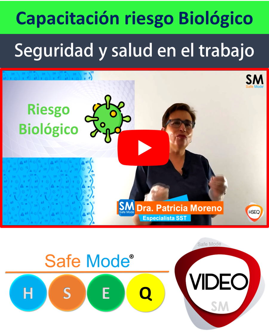 Capacitación riesgo biológico virtual en video
