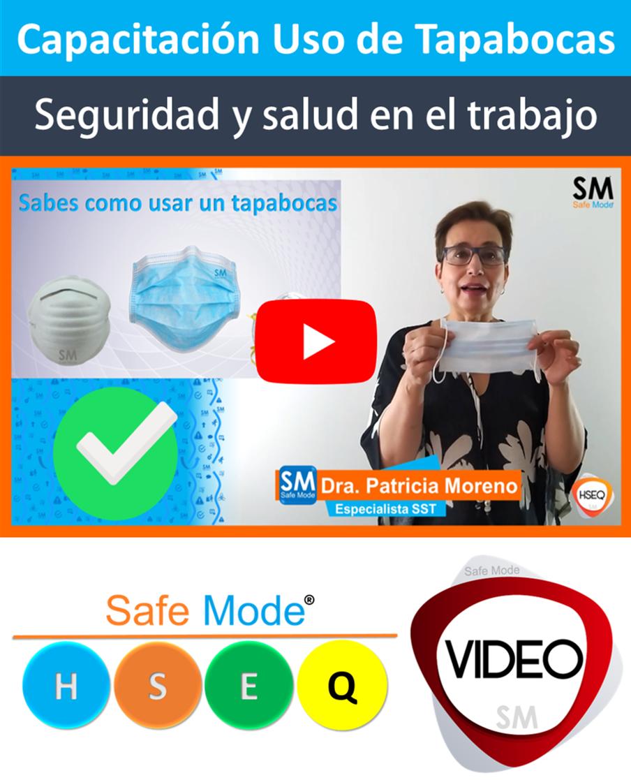 Video Uso adecuado de tapabocas EPP de Bio-seguridad