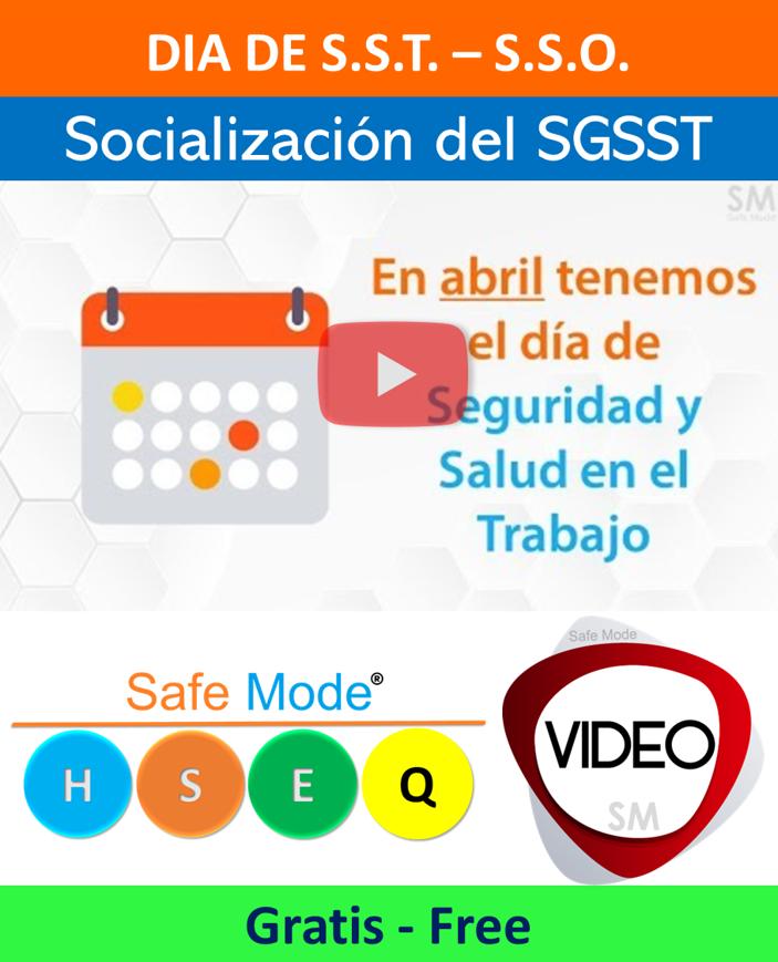 Vídeo Promocion día de Seguridad y Salud en el Trabajo