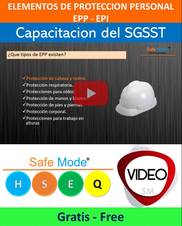 Vídeo Elementos de Protección Personal (Capacitación)