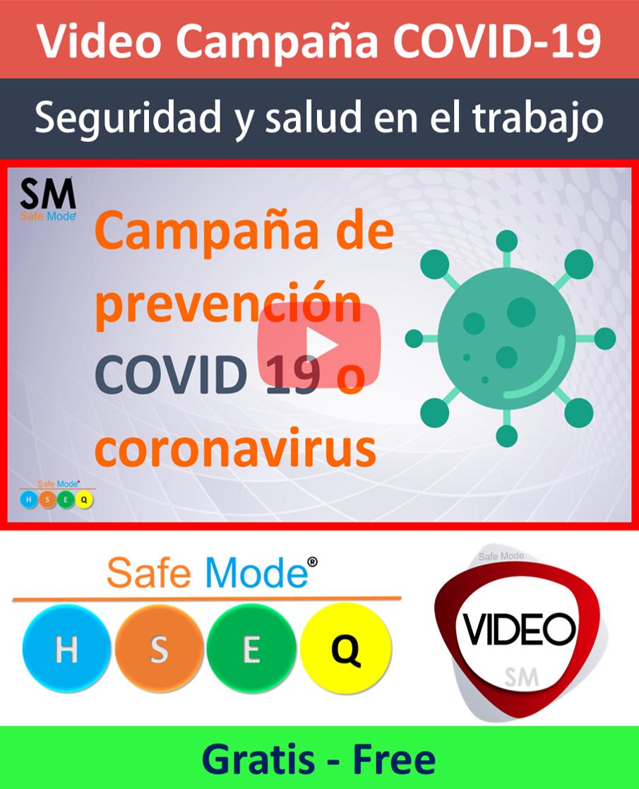 Vídeo campaña de prevención por COVID19 (Gratis)