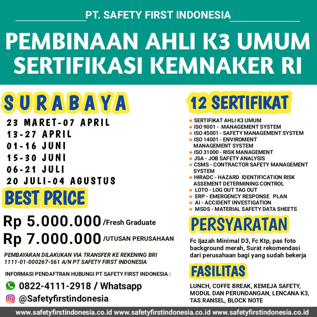 sertifikasi k3 surabaya