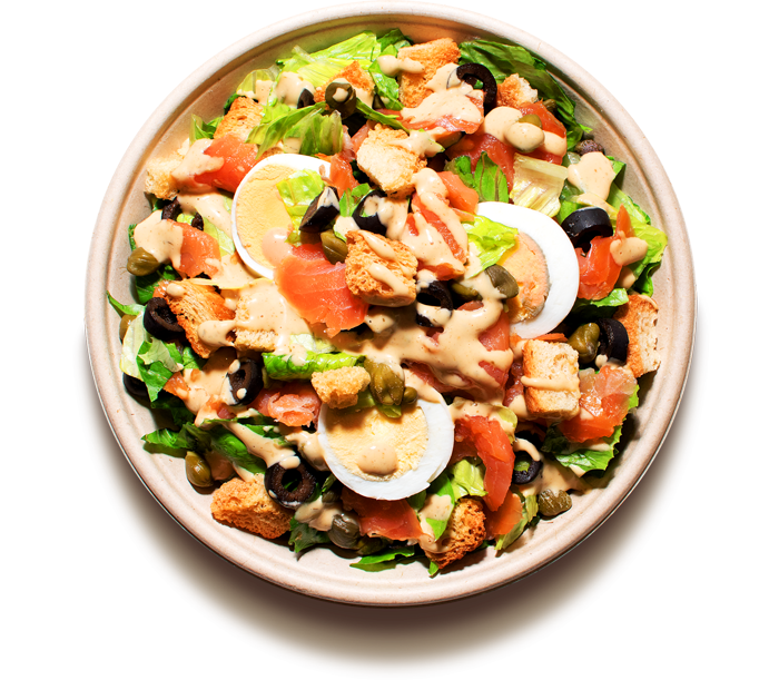 salaty/ S uzeným lososem