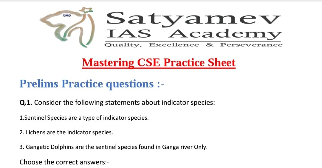 Daily practice prelims and mains questions and answer to previous questions. Participate by commenting / uploading your answers in the forum in pdf format. All the best 👍